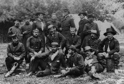 Flagler and group at Falmouth, April 1863