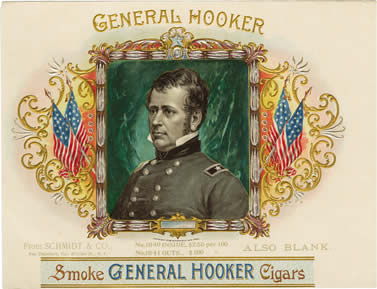Hooker Cigars box label (1896)