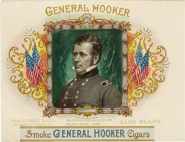 Hooker Cigars box label (1896)