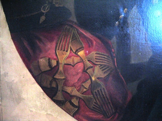 Devin portrait, fork detail