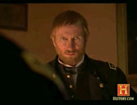 Bill Oberst Jr. as Gen WT Sherman on the History Channel