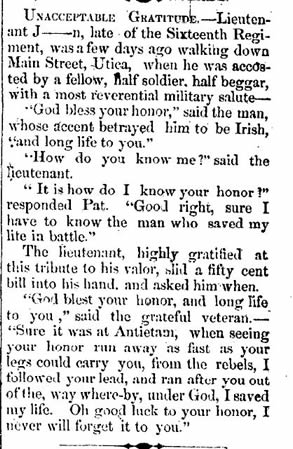 Uncommon Gratitude (Lowville Journal&Republican, October 1863)