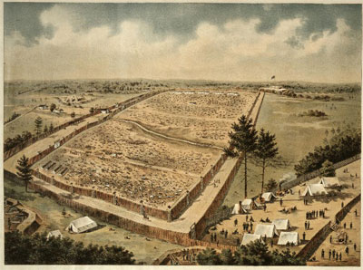 Birds eye view of Andersonville Prison