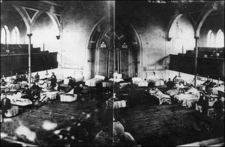 Evangelical Lutheran Church, Frederick, MD as Hospital c. 1862