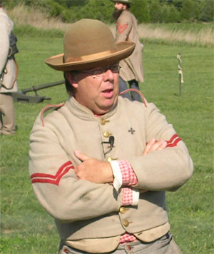Ranger Al Preston (South Mountain) narrates artillery demo at ANBP, Sept 2007