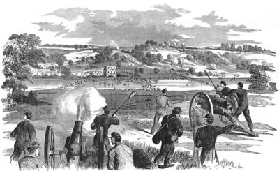 Federals on the Potomac at Boteler's Ford