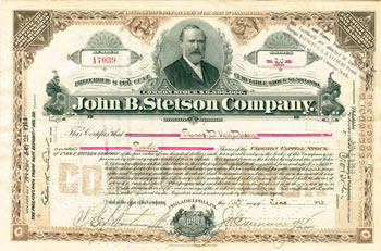 Stetson Stock Certificate (from LaBarre Galleries)