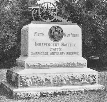 5th Battery Monument at Gettysburg