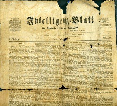 Sandusky Intelligenz-Blatt, 1851 (Library Archives)