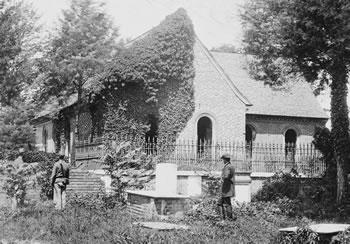 Blandford Church and cemetery (O'Sullivan, 1865)