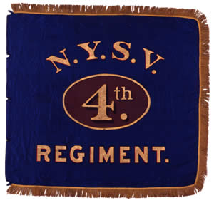 Flank marker flag - 4th NY Infantry