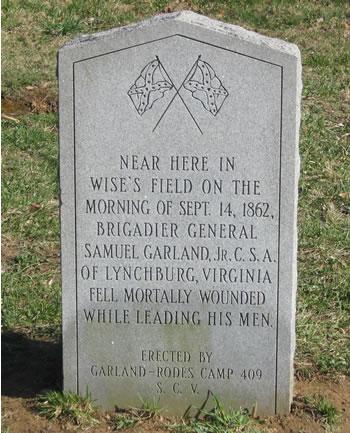 Garland monument at Fox's Gap