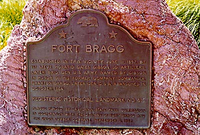 Plaque at Ft Bragg
