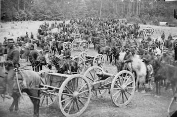Gibson's battery at Fair Oaks, VA, 1862