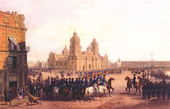 General Scott entering Mexico City
