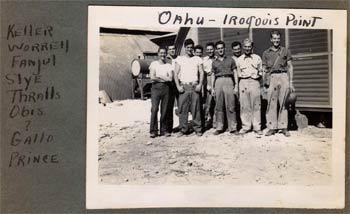 E.L. Fanjul, other Navy Corpsmen, 1944
