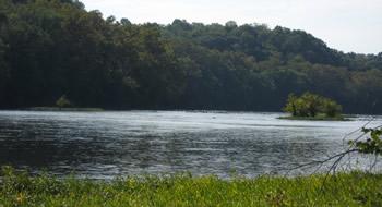 Upstream toward Dam, from Maryland side