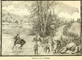 The 118th PA fording the Potomac, 20 Sept 1862