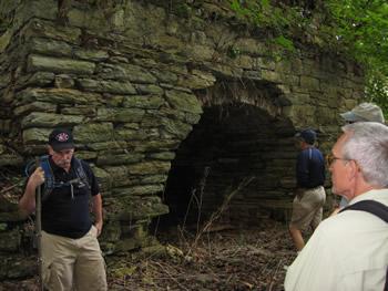 Large kiln up bluffs, fire chamber