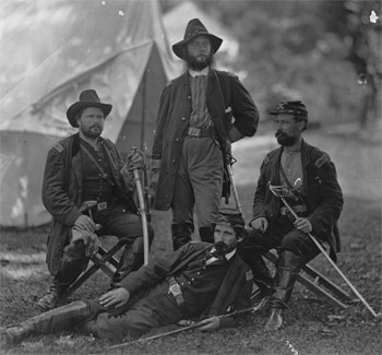 Staff, 4th PA Cavalry, August 1862