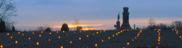 Battlefield memorial illumination (US Park Service photo)