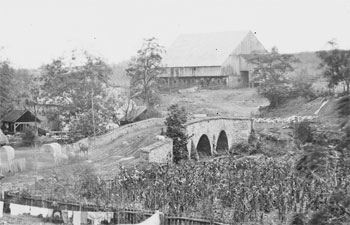 Middle Bridge from the North East (Newcomer Farm - A. Gardner, Sept 1862)