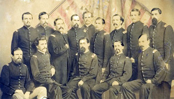 Officers of the 44th NY on mustering out (Oct 1864, from Cowan's)