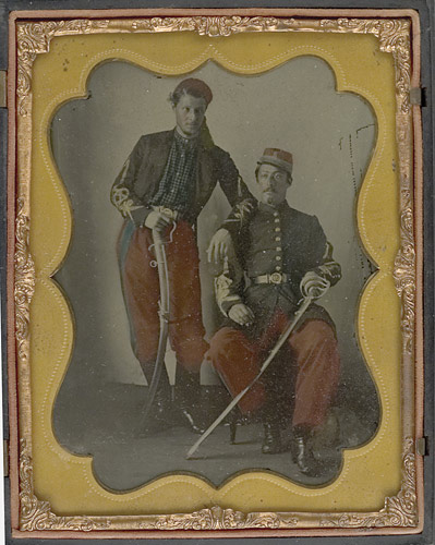 Coppens brothers (c. March 1861, Ambrotype sold by Cowan's)