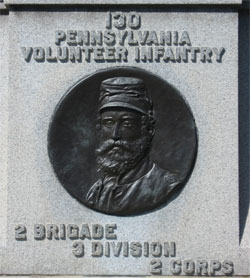 Colonel Zinn, 130th PA Monument