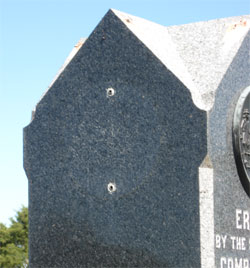 missing disk - 5th Maryland Monument