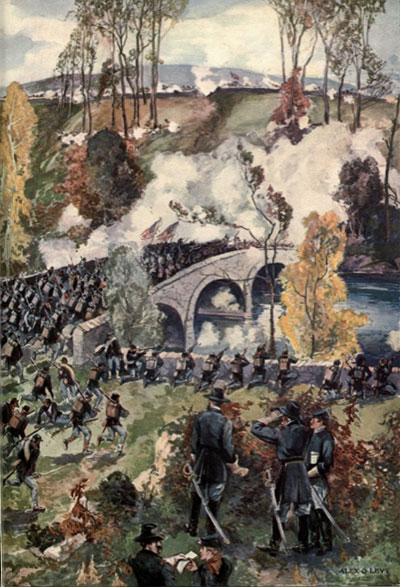 Battle of Antietam (Alexander O Levy, from Phisterer, Vol 2, pg 1040)