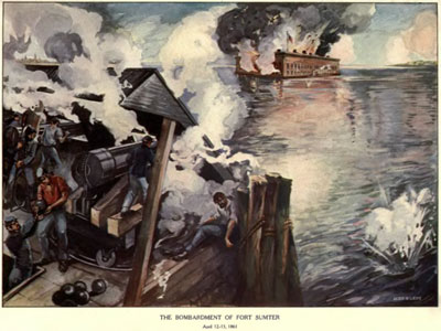 Bombardment of Fort Sumter (from Phisterer, Vol. 1)