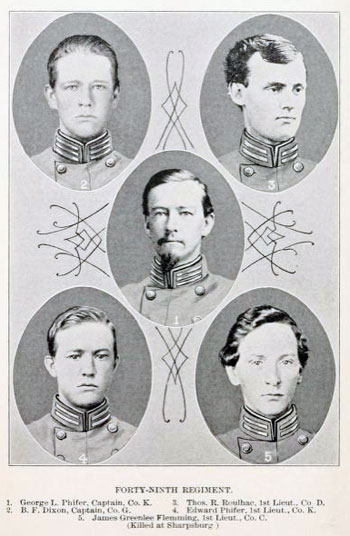 Officers of the 49th Regiment (from Clark)