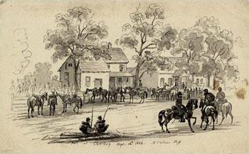 Halt at Clarksburg (Md), McClellan's Staff, Sept 12th 1862
