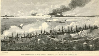 Bombardment of Ft Fisher (from Battles & Leaders)