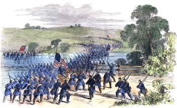 Hooker crossing the Antietam (16 Sept 1862)