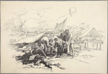 A field hospital, battlefield of Antietam (F.H. Schell, 17 Sep 1862, Heritage Auction Galleries)