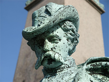 detail from the Soldiers Monument, Calvary Cemetery, Queens, NY