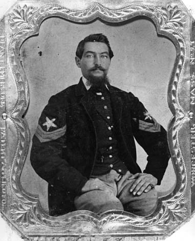 Sam Bloomer, Color Sergeant, 1st Minn Infy (1862, Minn Hist Society)