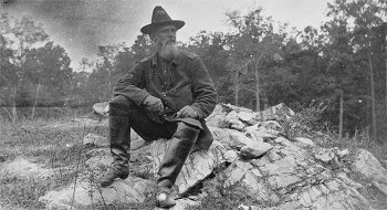 Turner G Morehead on the battlefield of Antietam