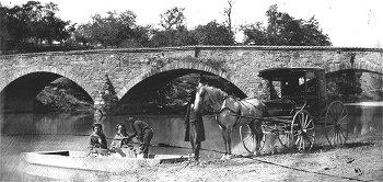 Picnic party at Antietam bridge