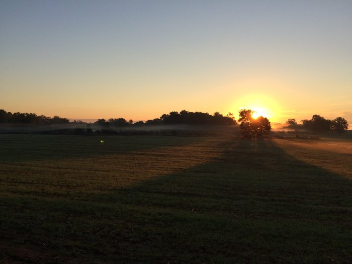 Sunrise at Antietam National Battlefield, 17 September 2015
